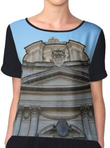 Roman Church Building Chiffon Top