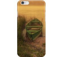 Old boat in the river iPhone Case/Skin