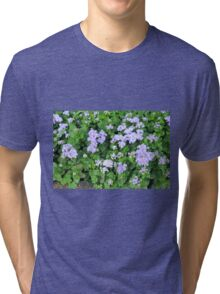 Purple flowers, natural background  Tri-blend T-Shirt