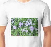 Purple flowers, natural background  Unisex T-Shirt