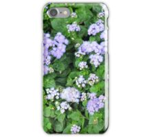 Purple flowers, natural background  iPhone Case/Skin
