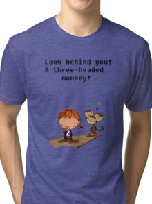 A three headed monkey Tri-blend T-Shirt