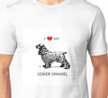 I Love My Cocker Spaniel Dog Unisex T-Shirt