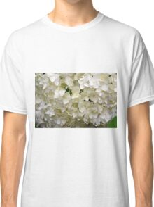 White small beautiful flowers texture. Classic T-Shirt