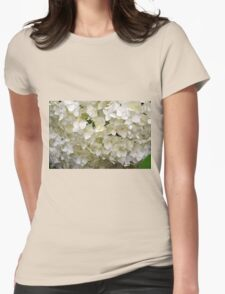 White small beautiful flowers texture. Womens Fitted T-Shirt