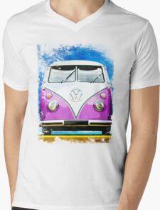 VW CAMPER PINK - ILLUSTRATION Mens V-Neck T-Shirt