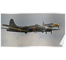 Boeing B-17 with Little friend Poster