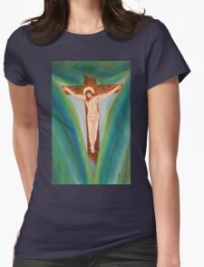 The cross Womens Fitted T-Shirt