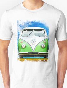 VW CAMPER GREEN - ILLUSTRATION Unisex T-Shirt