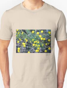 Yellow flowers background Unisex T-Shirt