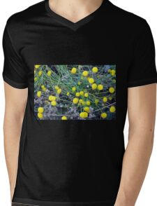 Yellow flowers background Mens V-Neck T-Shirt