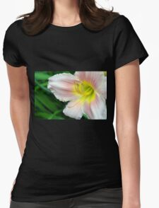 White hibiscus flower. Womens Fitted T-Shirt