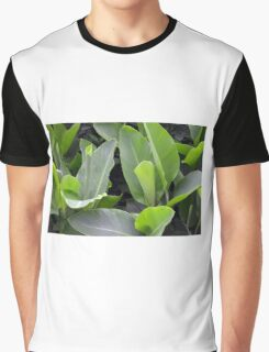 Green leaves natural background. Graphic T-Shirt