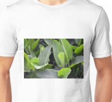 Green leaves natural background. Unisex T-Shirt