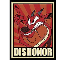 Dishonor Photographic Print