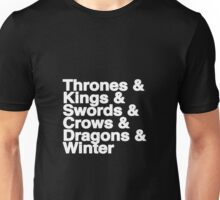 A Song of Ice and Fire (Black) Unisex T-Shirt