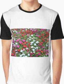 Colorful flowers pattern. Graphic T-Shirt