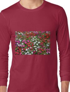 Colorful flowers pattern. Long Sleeve T-Shirt