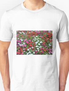 Colorful flowers pattern. Unisex T-Shirt