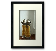 old ship Pipe telephone Framed Print