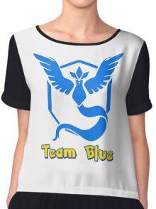 Team Blue Mystic Pokemon Go Chiffon Top