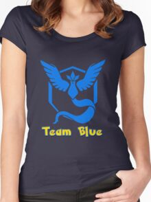 Team Blue Mystic Pokemon Go Women's Fitted Scoop T-Shirt