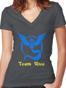 Team Blue Mystic Pokemon Go Women's Fitted V-Neck T-Shirt