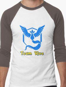Team Blue Mystic Pokemon Go Men's Baseball ¾ T-Shirt