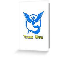 Team Blue Mystic Pokemon Go Greeting Card