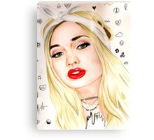Pia Mia Tumblr Symbols Art Drawing Canvas Print