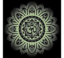 Yoga Mandala Henna Ornate Ohm Sage Green Photographic Print