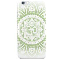Yoga Mandala Henna Ornate Ohm Sage Green iPhone Case/Skin