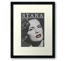 Stana Katic as Marilyn Monroe Framed Print