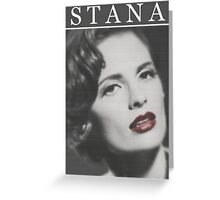 Stana Katic as Marilyn Monroe Greeting Card