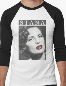Stana Katic as Marilyn Monroe Men's Baseball ¾ T-Shirt