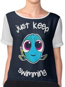 Keep swimming Chiffon Top