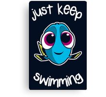 Keep swimming Canvas Print