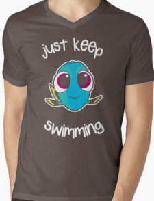 Keep swimming Mens V-Neck T-Shirt