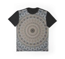 Mandala in gray and beige tones Graphic T-Shirt