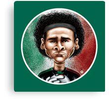 Footballicature : Guillermo Ochoa Canvas Print