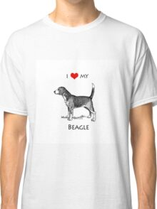 I Love My Beagle Dog Classic T-Shirt