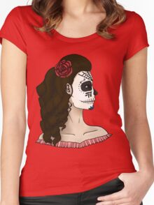 Mexican Skull Women's Fitted Scoop T-Shirt