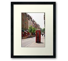 London Telephone Booth Framed Print