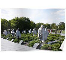 Washington DC Korean War Memorial Poster