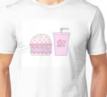 Pink Burger and Drink Unisex T-Shirt