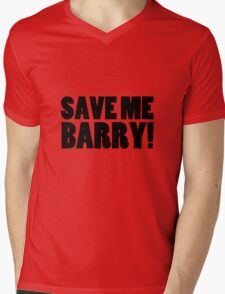 Save Me Barry! Mens V-Neck T-Shirt