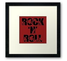 rock and roll Framed Print