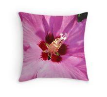 Rosemallow - hibiscus syriacus Throw Pillow