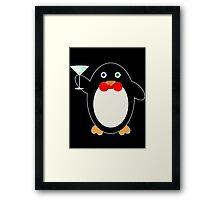 Happy Hour Penguin Framed Print