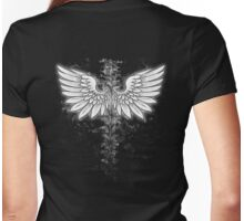 Winged backbone Womens Fitted T-Shirt
